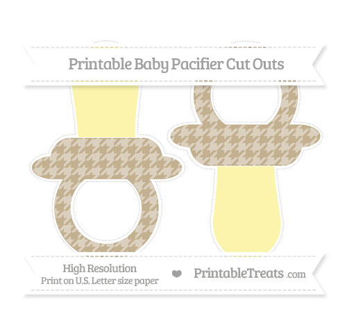 Free Khaki Houndstooth Pattern Large Baby Pacifier Cut Outs