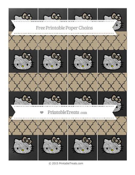 Free Khaki Moroccan Tile Chalk Style Hello Kitty Paper Chains