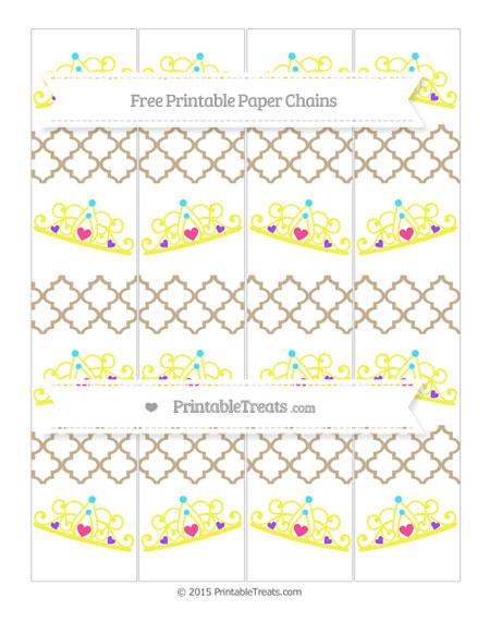 Free Khaki Moroccan Tile Princess Tiara Paper Chains