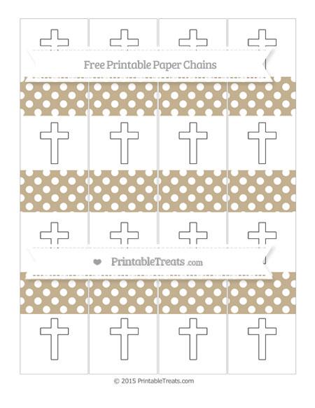 Free Khaki Polka Dot Cross Paper Chains