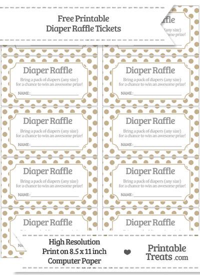 Free Khaki Polka Dot Diaper Raffle Tickets