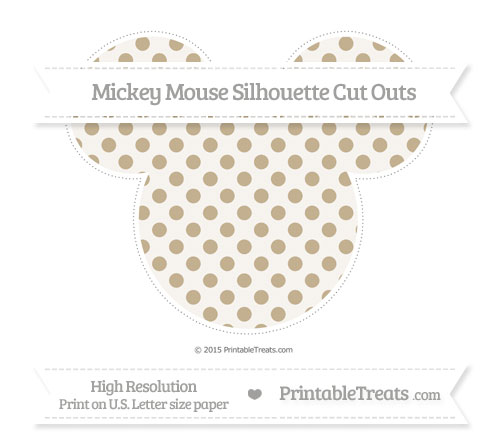 Free Khaki Polka Dot Extra Large Mickey Mouse Silhouette Cut Outs