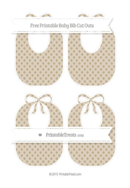 Free Khaki Polka Dot Medium Baby Bib Cut Outs
