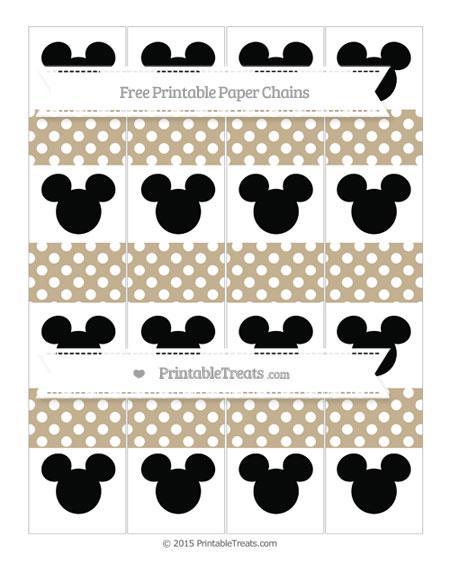 Free Khaki Polka Dot Mickey Mouse Paper Chains