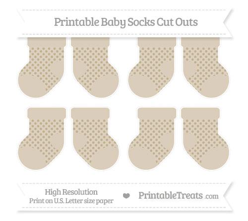 Free Khaki Polka Dot Small Baby Socks Cut Outs