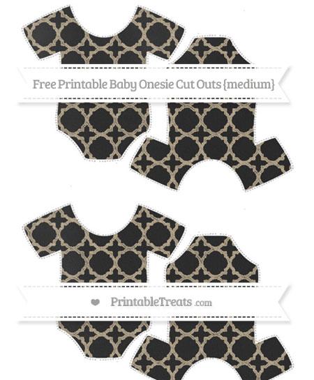 Free Khaki Quatrefoil Pattern Chalk Style Medium Baby Onesie Cut Outs