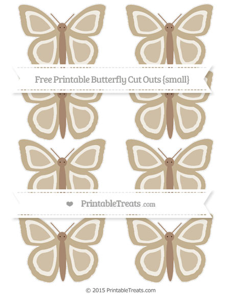 Free Khaki Small Butterfly Cut Outs