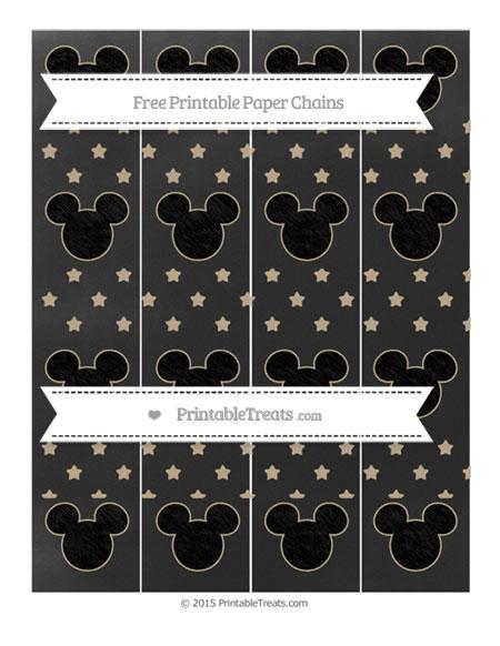Free Khaki Star Pattern Chalk Style Mickey Mouse Paper Chains