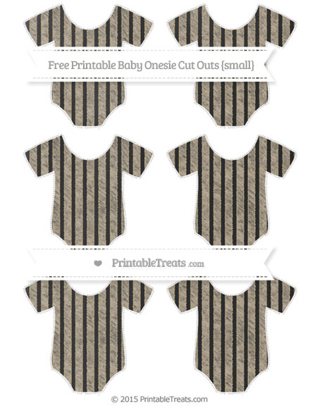 Free Khaki Thin Striped Pattern Chalk Style Small Baby Onesie Cut Outs
