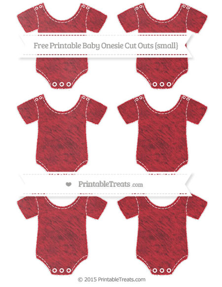 Free Lava Red Chalk Style Small Baby Onesie Cut Outs