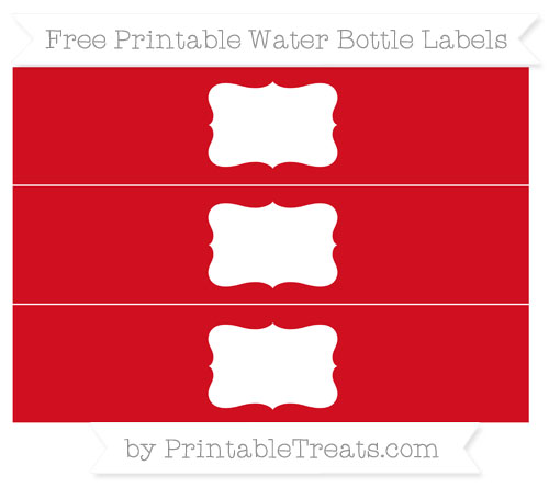 Free Lava Red Water Bottle Labels