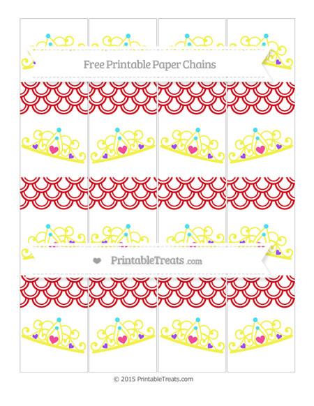 Free Lava Red Fish Scale Pattern Princess Tiara Paper Chains