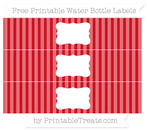 Free Lava Red Striped Water Bottle Labels