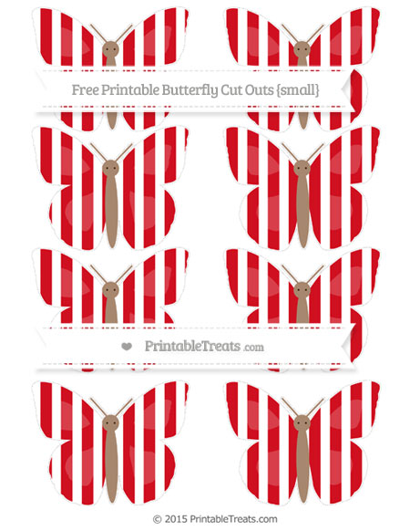 Free Lava Red Striped Small Butterfly Cut Outs