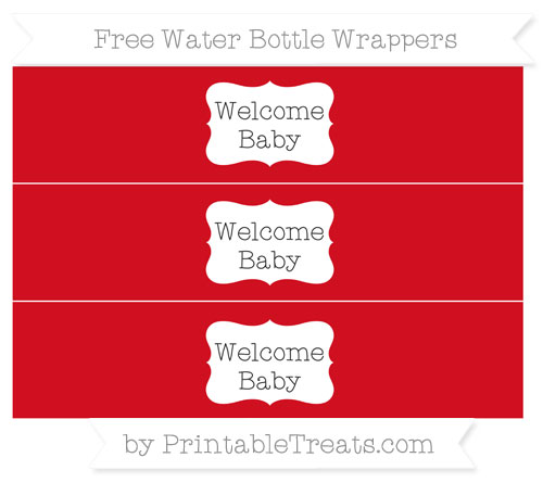 Free Lava Red Welcome Baby Water Bottle Wrappers