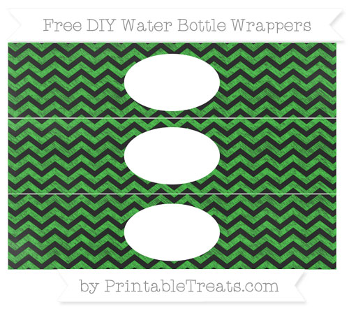 Free Lime Green Chevron Chalk Style DIY Water Bottle Wrappers