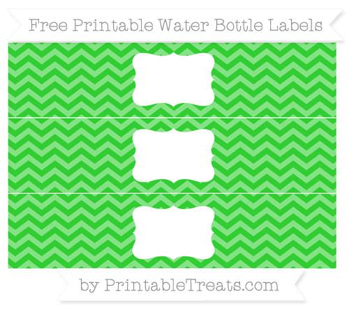Free Lime Green Chevron Water Bottle Labels
