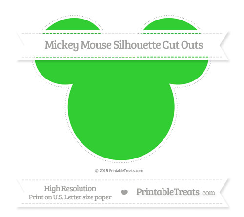 Free Lime Green Extra Large Mickey Mouse Silhouette Cut Outs
