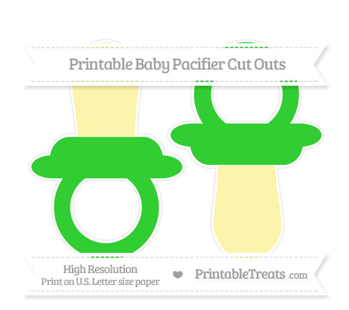 Free Lime Green Large Baby Pacifier Cut Outs