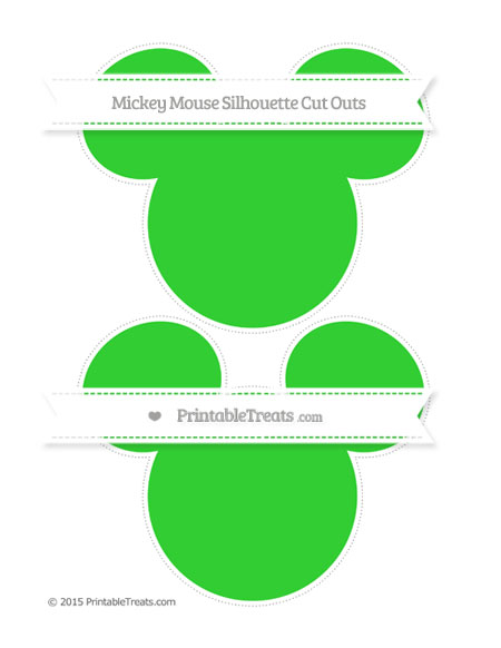 Free Lime Green Large Mickey Mouse Silhouette Cut Outs