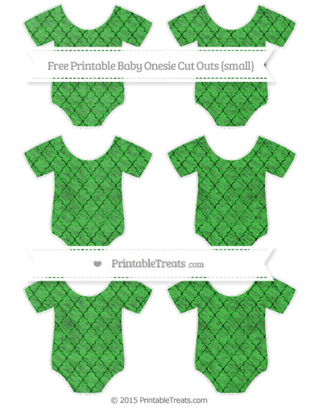 Free Lime Green Moroccan Tile Chalk Style Small Baby Onesie Cut Outs