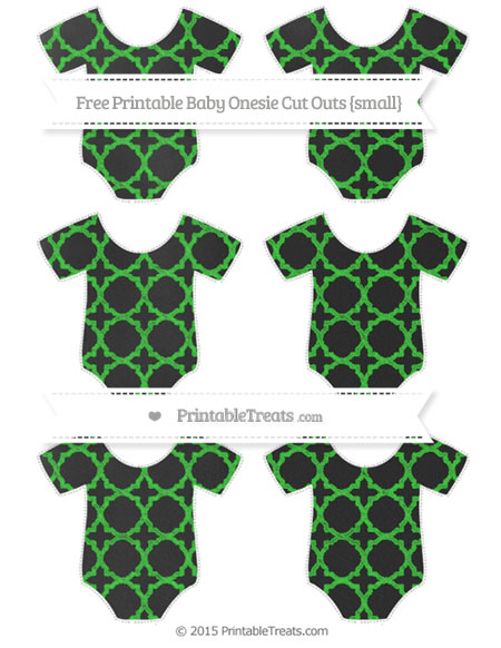 Free Lime Green Quatrefoil Pattern Chalk Style Small Baby Onesie Cut Outs