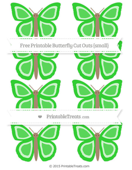 Free Lime Green Small Butterfly Cut Outs