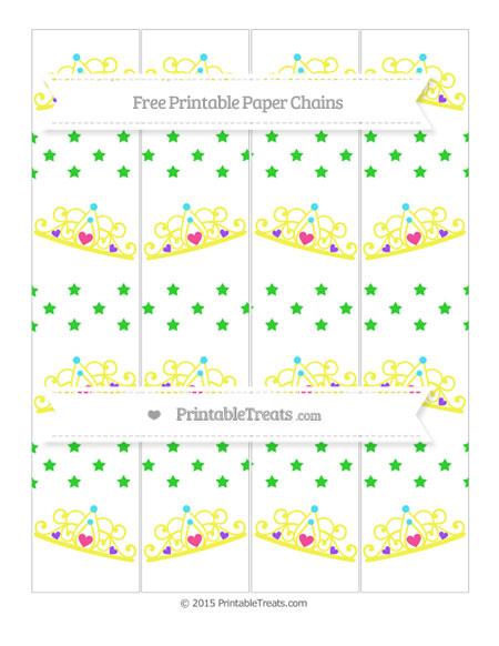 Free Lime Green Star Pattern Princess Tiara Paper Chains