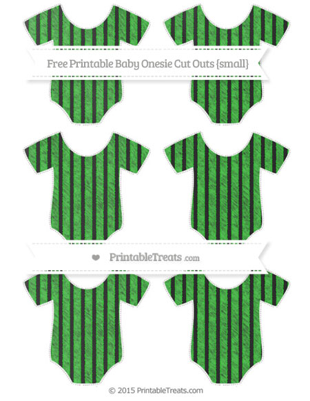 Free Lime Green Thin Striped Pattern Chalk Style Small Baby Onesie Cut Outs