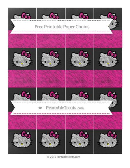 Free Magenta Chalk Style Hello Kitty Paper Chains