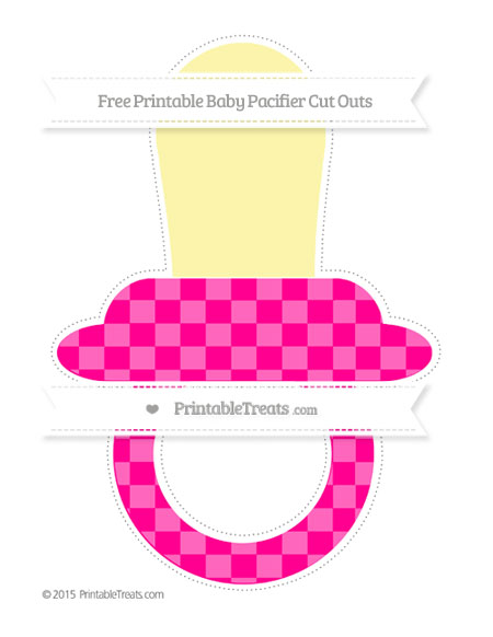 Free Magenta Checker Pattern Extra Large Baby Pacifier Cut Outs
