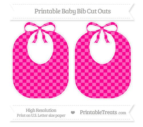 Free Magenta Checker Pattern Large Baby Bib Cut Outs