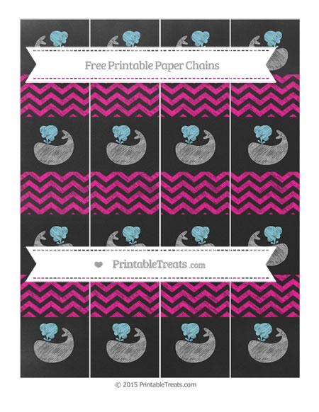 Free Magenta Chevron Chalk Style Whale Paper Chains