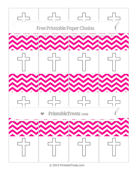 Free Magenta Chevron Cross Paper Chains