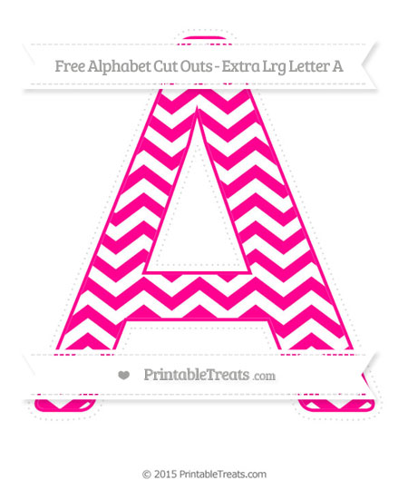 Free Magenta Chevron Extra Large Capital Letter A Cut Outs