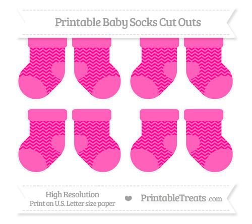 Free Magenta Chevron Small Baby Socks Cut Outs
