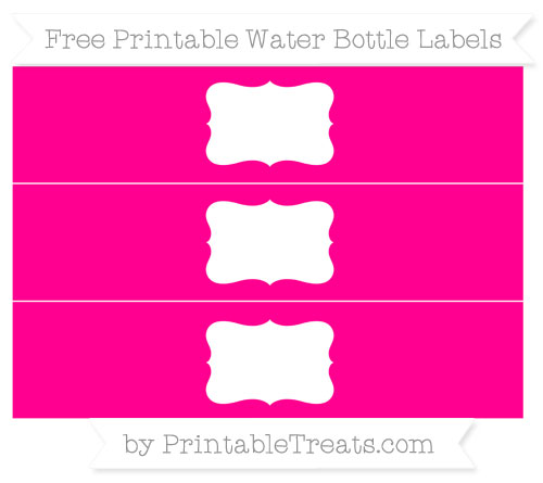 Free Magenta Water Bottle Labels