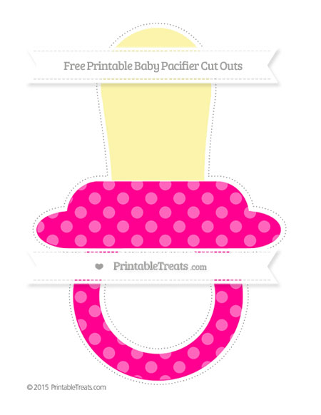 Free Magenta Dotted Pattern Extra Large Baby Pacifier Cut Outs