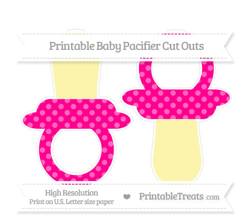 Free Magenta Dotted Pattern Large Baby Pacifier Cut Outs