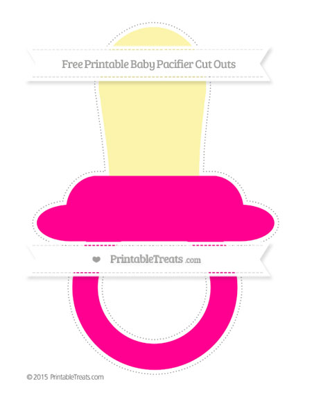 Free Magenta Extra Large Baby Pacifier Cut Outs