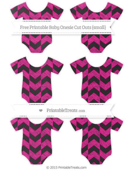 Free Magenta Herringbone Pattern Chalk Style Small Baby Onesie Cut Outs