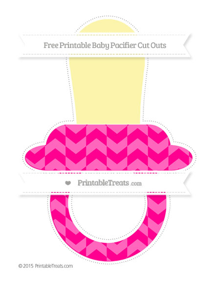 Free Magenta Herringbone Pattern Extra Large Baby Pacifier Cut Outs