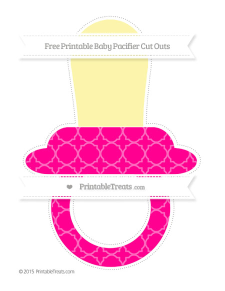 Free Magenta Quatrefoil Pattern Extra Large Baby Pacifier Cut Outs
