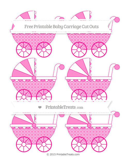 Free Magenta Quatrefoil Pattern Small Baby Carriage Cut Outs