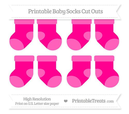 Free Magenta Small Baby Socks Cut Outs