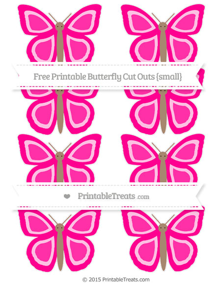 Free Magenta Small Butterfly Cut Outs