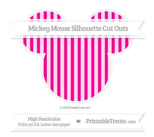 Free Magenta Striped Extra Large Mickey Mouse Silhouette Cut Outs