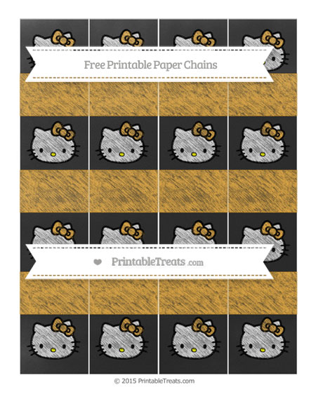 Free Marigold Chalk Style Hello Kitty Paper Chains
