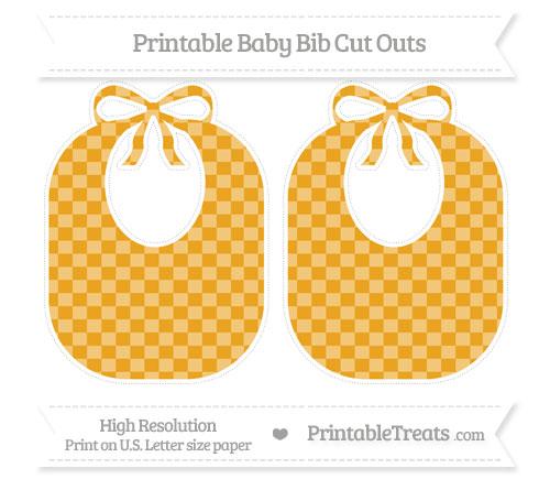 Free Marigold Checker Pattern Large Baby Bib Cut Outs