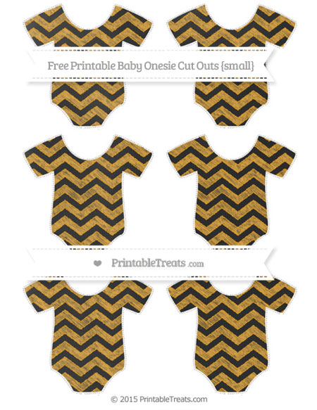 Free Marigold Chevron Chalk Style Small Baby Onesie Cut Outs